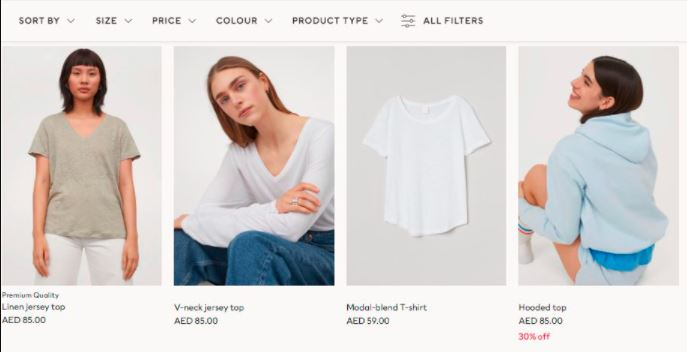 H and M AE  Products