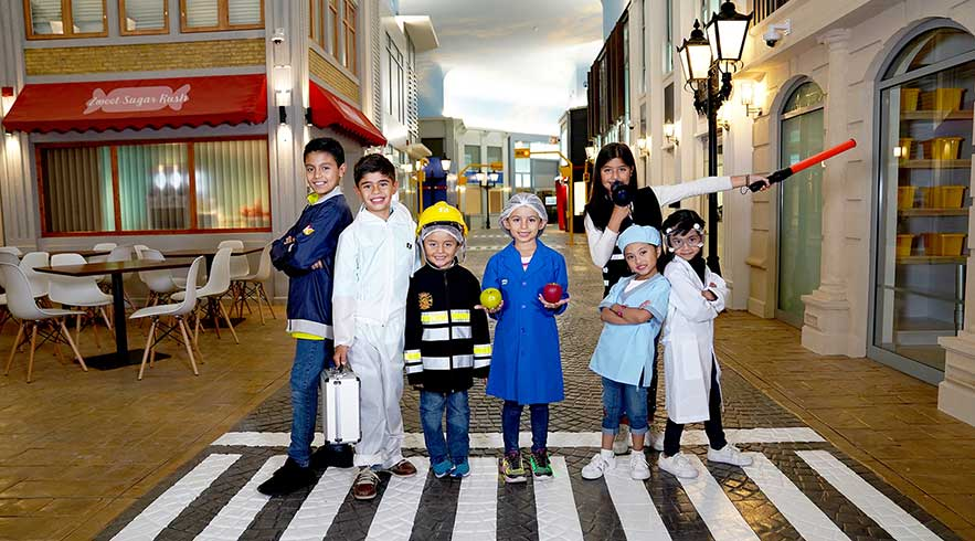 Children role-playing real-life professions